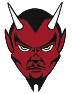 Red Devil Embroidered Patch Satanic Evil 666 Lucifer Satan Iron on Emblem Small Clothing