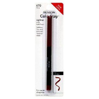 Revlon ColorStay Lipliner with SoftFlex, Wine 670, 0.01 Ounce  Lipstick  Beauty
