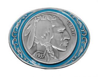 Native American Indian Head Buffalo Nickel Belt Buckle Clothing
