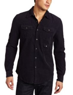 Joe's Jeans Men's Relaxed Corduroy Shirt, Marine, Small at  Men�s Clothing store