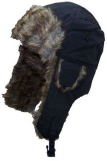 Best Winter Hats Men's Nylon Faux Fur Russian/Aviator Hat (One Size)   Black at  Men�s Clothing store