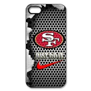 NFL San Francisco 49ers Logo Iphone 5 5S Case Nike Logo Case Cover black&white: Cell Phones & Accessories