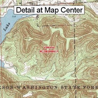 USGS Topographic Quadrangle Map   Vallonia, Indiana (Folded/Waterproof)  Outdoor Recreation Topographic Maps  Sports & Outdoors