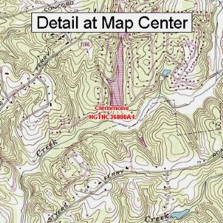 USGS Topographic Quadrangle Map   Clemmons, North Carolina (Folded/Waterproof)  Outdoor Recreation Topographic Maps  Sports & Outdoors