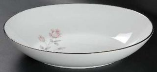 Royal Prestige Rose Crest 10 Oval Vegetable Bowl, Fine China Dinnerware   Pink&