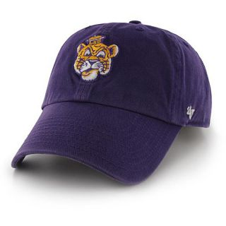 47 BRAND Mens LSU Tigers Mascot Logo Clean Up Adjustable Cap   Size: