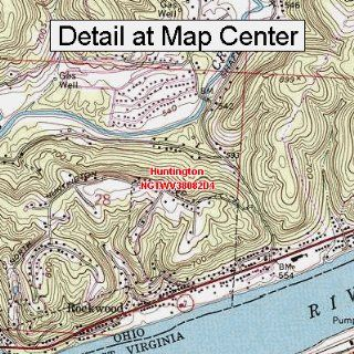 USGS Topographic Quadrangle Map   Huntington, West Virginia (Folded/Waterproof)  Outdoor Recreation Topographic Maps  Sports & Outdoors