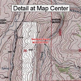 USGS Topographic Quadrangle Map   Hardware Ranch, Utah (Folded/Waterproof)  Outdoor Recreation Topographic Maps  Sports & Outdoors