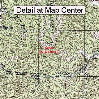 USGS Topographic Quadrangle Map   Gilbert, West Virginia (Folded/Waterproof)  Outdoor Recreation Topographic Maps  Sports & Outdoors
