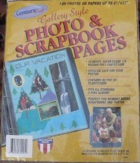 CenturyCraft Gallery Style Photo & Scrapbook pages 8.5 x 11 Page   10 Protectors