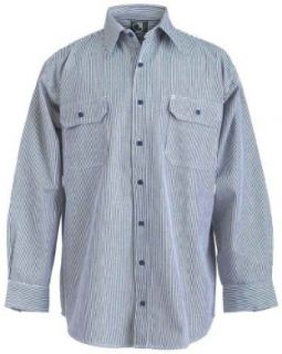 Berne Apparel Men's Hickory Stripe Button Long Sleeve Logger Shirt at  Men�s Clothing store