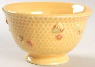 "Williams Sonoma Honeybee 5"" All Purpose (Cereal) Bowl, Fine China Dinnerware: Bee Cereal Bowls: Kitchen & Dining"