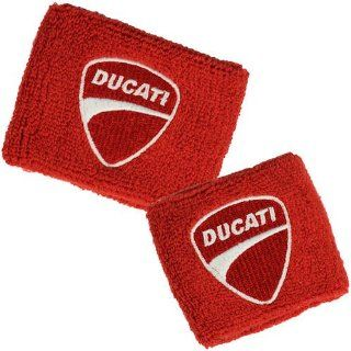 Ducati Red Brake and Clutch Reservoir Sock Cover Set Fits 748, 749, 848, 848 Evo, 916, 996, 998, 999, 1098, 1198, ST2, ST3, ST4, Streetfighter, Hypermotard, Multistrada, Monster 1100: Automotive