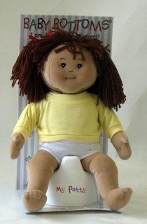 Baby Bottoms 14 inch Hispanic Girl Rag Doll with Potty Toys & Games