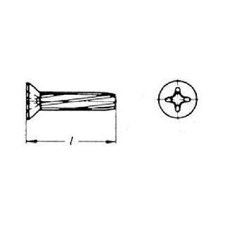 (750pcs) Metric DIN 7516D M4X10 Cross Recessed Flat Head Thread Cutting Screw steel plain finish Ships Free in USA Thread Forming And Cutting Screws Industrial & Scientific