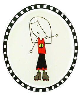 GANZ Sticker   Peace Girl * Laura Kelly Me & My Peeps   Childrens Decorative Stickers