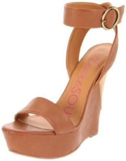 Heart Soul Women's Gabriele Ankle Strap Sandal,Camel Burnish,6.5 M US Shoes