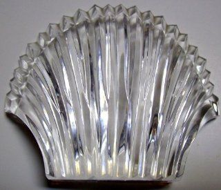 Waterford Crystal Scallop Clam Shell Paperweight   Collectible Figurines
