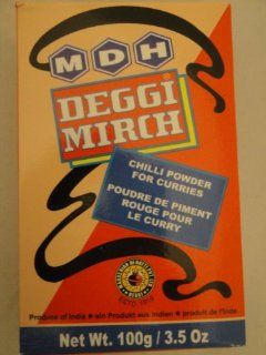 MDH Deggi Mirch (Bright Red Chilli Powder) 100gram : Chili Powder : Grocery & Gourmet Food