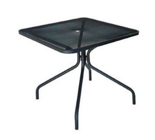 EmuAmericas 802 ALU Cambi Table, 36 in Square, Umbrella Hole, Mesh Top, Aluminum, Each : Patio Dining Tables : Patio, Lawn & Garden