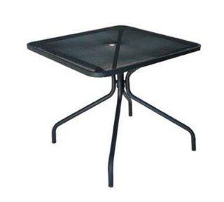 EmuAmericas 802 ALU Cambi Table, 36 in Square, Umbrella Hole, Mesh Top, Aluminum, Each : Patio Dining Tables : Patio, Lawn & Garden