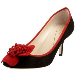 Kate Spade New York Women's Gratis Pump, Black Suede/Poppy Red, 6 M: Pumps Shoes: Shoes
