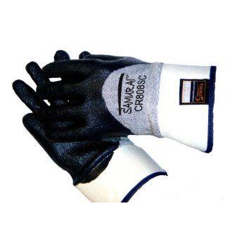 Global Glove CR808SC Samurai Tsunami Tuff Nitrile Glove, Cut Resistance, Extra Large (Case of 72) Industrial & Scientific