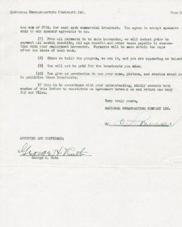 """BABE RUTH """"GEORGE H. RUTH"""" AUTHENTIC SIGNED 1943 NBC RADIO CONTRACT AUTOGRAPH GRADED PERFECT GEM MINT 10 CERTIFICATE OF AUTHENTICITY PSA/DNA #H45238 Sports Collectibles"""