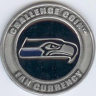 NFL Seattle Seahawks Challenge Coin Poker Guard with black velvet pouch  Poker Chips  Sports & Outdoors