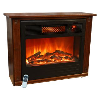 Life Smart Portable Infrared Fireplace   Electric Fireplaces