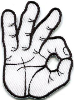 Ok Okay Hand Sign Signal Logo Retro Applique Iron on Patch New S 795 Handmade Design From Thailand: Everything Else