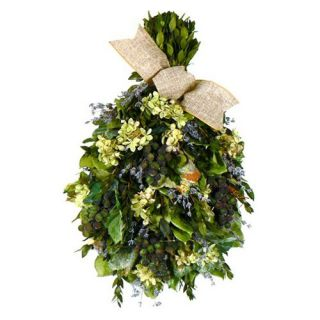 Vineyard Garden Collection Tear Drop Floral Arrangement   Christmas Swags