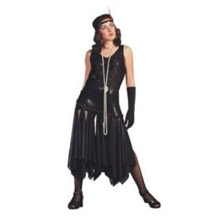 20s Scarf Flapper   Black, Standard Costume: Adult Sized Costumes: Clothing