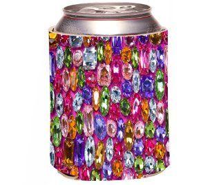 Rikki KnightTM Background From Various Color Shiny Gems Design Drinks Cooler Neoprene Koozie Cold Beverage Koozies Kitchen & Dining
