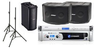Bose 802 III Loudspeakers Bose Pro Audio Portable Sound System Package Includes Crown XLS2000 Amplifier Musical Instruments