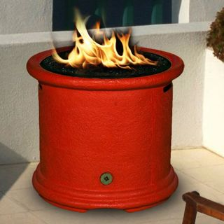 California Outdoor Concepts Island Chat Height Fire Pit   Burnt Orange   Fire Pits
