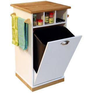 Venture Horizon Bedford Kitchen Island with Hidden Trash Bin   Kitchen Islands and Carts
