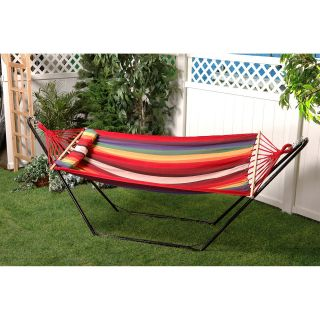 Bliss Hammocks Oversized Fabric Hammock with Spreader Bar and Pillow   Hammocks