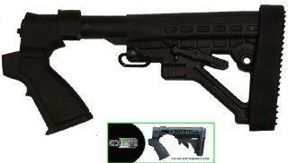 Tactical Stealth Black Mossberg 500 500A 590 835 Maverick 88 12 &20 Gauge Shotgun Predator Stock Buttstock Set With QD Sling Swivel + Recoil Buttpad + Rear Pistol Grip & Featuring Patented Phoenix Technology Kicklite Recoil Reduction Stock Tube  G
