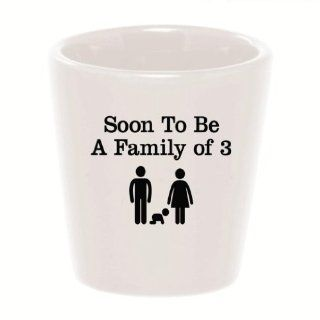 Mashed Mugs   Soon To Be A Family Of Three (Mommy/Daddy/Baby)   Ceramic Shot Glass Kitchen & Dining