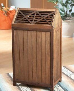 Western Wooden Garbage Can Trash Bin  Storage And Organization Products