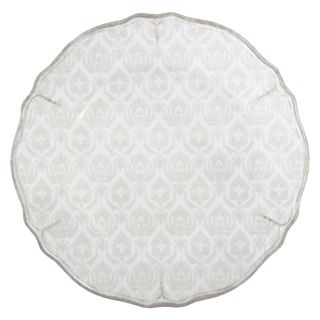 Le Cadeaux 11 in. Louis White Dinner Plate   Set of 4   Outdoor Dinnerware
