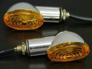 Chrome Amber Turn Signal for Honda Cb Ct 350 750 Yamaha Rd Xs Xj 250 400 600 850 Suzuki Intruder Volusia Boulevard C50 C90 M50 Gs 750 1100 Kawasaki Z Kz Z1 650 900 1000 CBR Gsxr 600 750 1000 Rr R1 R6 Ninja 250 Zx6r Zx10r: Automotive