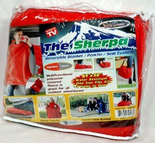 The Sherpa Seen on tv Reversible Fleece Blanket Red   Throw Blankets