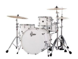 Gretsch New Renown Maple 3 Piece Euro Drum Set Shell Pack   Satin White Musical Instruments