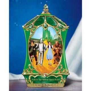 Wizard of Oz Yellow Brick Road Cyclorama Music Box   Trinket Boxes