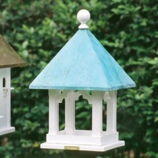 Lazy Hill Farms Blue Verde Copper Roof Square Bird House   Bird Houses
