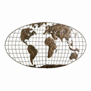 Southern Enterprises Iron World Map Wall Art