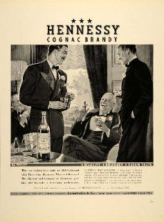 1938 Ad Hennessy Cognac Brandy Proof Liquor Bottles   Original Print Ad   White Hennessy Cognac Liquor
