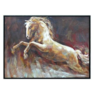 Framed Horse Painting Wall Art   38.5W x 28.5H in.   Framed Wall Art